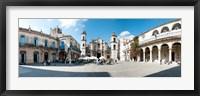 Framed Facade of a cathedral, Plaza De La Catedral, Old Havana, Havana, Cuba