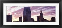 Framed Pinnacle at Symphony Place and BellSouth Building at sunset, Nashville, Tennessee, USA 2013
