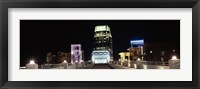 Framed Skyline at night  from Shelby Street Bridge, Nashville, Tennessee