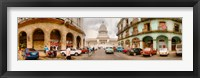 Framed Street View of Government buildings in Havana, Cuba