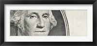 Framed Details of George Washington's image on the US dollar bill