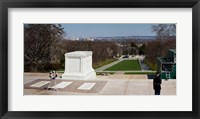 Framed Tomb of a soldier in a cemetery, Arlington National Cemetery, Arlington, Virginia, USA