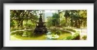 Framed Fountain in a botanical garden, Jardim Botanico, Corcovado, Rio de Janeiro, Brazil