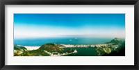 Framed Aerial view of a coast, Corcovado, Rio de Janeiro, Brazil