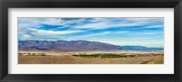 Framed Landscape with mountain range in the background, Furnace Creek Ranch, Death Valley, Death Valley National Park, California, USA