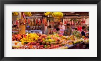 Framed Fruits at market stalls, La Boqueria Market, Ciutat Vella, Barcelona, Catalonia, Spain