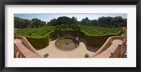 Framed High angle view of a formal garden, Horta Labyrinth Park, Horta-Guinardo, Barcelona, Catalonia, Spain