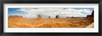 Framed Buttes in a desert, The Mittens, Monument Valley Tribal Park, Monument Valley, Utah, USA