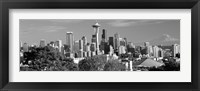 Framed View of city in black and white, Seattle, King County, Washington State, USA 2010