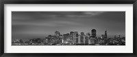 Framed Skyline viewed from Treasure Island, San Francisco, California, USA