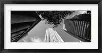 Framed Low angle view of skyscrapers, San Francisco, California, USA