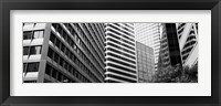 Framed Facade of office buildings, San Francisco, California