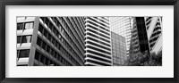 Framed Facade of office buildings, San Francisco, California