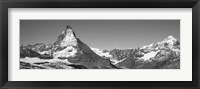 Framed Matterhorn Switzerland in Black and White