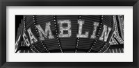 Framed Las Vegas gambling sign in Black and White, Nevada