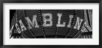 Framed Las Vegas gambling sign in Black and White, Nevada