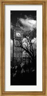 Framed Big Ben, London, England, United Kingdom (black and white)