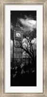 Framed Big Ben, London, England, United Kingdom (black and white)