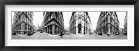 Framed 360 degree view of a city, Montreal, Quebec, Canada