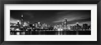 Framed Black and white view of Chicago, Illinois