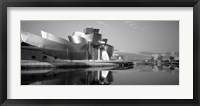 Framed Reflection of a museum on water, Guggenheim Museum, Bilbao, Spain