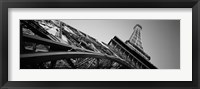 Framed Las Vegas Replica Eiffel Tower, Las Vegas, Nevada (black & white)