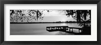 Framed Lake Whippoorwill, Sunrise, Florida (black & white)