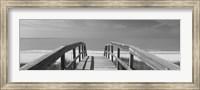 Framed Boardwalk on the beach, Gasparilla Island, Florida, USA