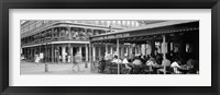 Framed Black and white view of Cafe du Monde French Quarter New Orleans LA