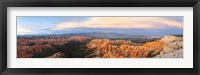 Framed Bryce Canyon from Bryce Point in the evening, Bryce Canyon National Park, Utah, USA