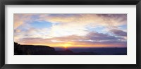 Framed Sunrise on the Colorado Plateau from Cape Royal, North Rim, Grand Canyon National Park, Arizona, USA