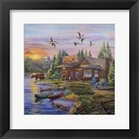 Framed Sunset on the Lake