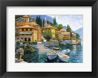 Framed Lake Como Landing