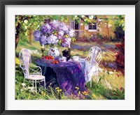 Framed Lilac Tea Party
