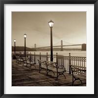 Framed San Francisco Bay Bridge at Dusk