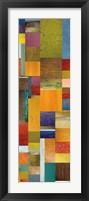 Framed Color Panels with Olives Stripes