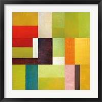 Color Study Abstract 2 Framed Print