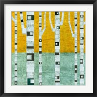 Framed Early Winter Birches