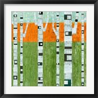 Framed Spring Birches