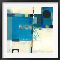 Calypso Blue I Framed Print