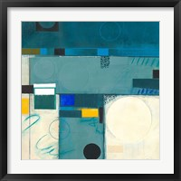 Calypso Blue III Framed Print
