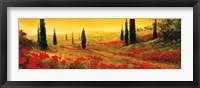 Framed Toscano Panel I