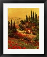 Framed Toscano Valley I