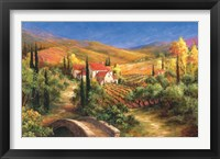Framed Tuscan Bridge