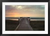 Framed Sunset Pier