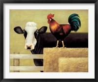 Framed Barnyard Cow