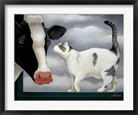 Framed Cow and Cat