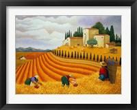 Framed Village Harvest