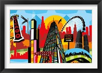 Framed Chicago Bright and Colorful