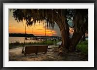 Framed Savannah Sunset